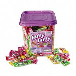 Wonka Assorted Flavor Laffy Taffy 3.08 lbs 165 Wrapped Pieces per Tub (NES94100)