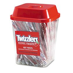 Strawberry Twizzlers Licorice Individually Wrapped 2 Lb. Tub (TWZ51902)