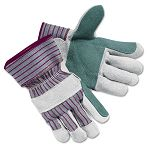 Economy Leather Palm Gloves Large Striped 1 Pair (CRW1211L)