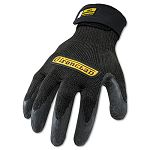 Cut Resistant Stainless Steel Nylon-Mesh Gloves 1 Pair Black Large (IRNICR04L)