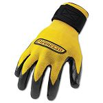 Performance Nitrile-Coated Nylon Gloves 1 Pair Bright Yellow Large (IRNIDN04L)