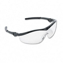 Storm Wraparound Safety Glasses Black Nylon Frame Clear Lens (CRWST110)