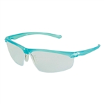 Refine 202 Safety Glasses Wraparound Gray AntiFog Lens Teal Frame (MMM117360000020)