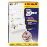 "Cleer Adheer Laminating Film 2 mil 9"" x 12"" Box of 50 (CLI65001)"