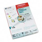 "Cleer Adheer Nonglare Laminating Film 2 mil 9"" x 12"" Box of 50 (CLI65004)"