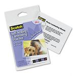 "Self-Sealing Laminating Pouches Glossy 2-1516"" x 3-1516"" Wallet Size Pack of 5 (MMMPL903G)"