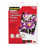 "Letter size thermal laminating pouches 3 mil 11 12"" x 9"" Pack of 20 (MMMTP385420)"