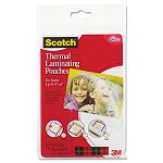 "Photo size thermal laminating pouches 5 mil 6"" x 4"" Pack of 20 (MMMTP590020)"