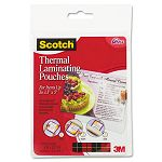 "Index card size thermal laminating pouches 5 mil 5 38"" x 3 34"" Pack of 20 (MMMTP590220)"