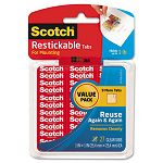 "Reusable Mounting Tabs 1"" x 1"" Clear Pack of 27 (MMMR100VPC)"