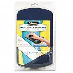 Gel Wrist Support And Mouse Pad with Antimicrob Protection SapphireBlack (FEL9175401)