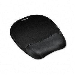 "Mouse Pad with Wrist Rest Nonskid Back 7-1516"" x 9-14"" Black (FEL9176501)"
