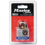 "Four-Pin Tumbler Lock Laminated Steel Body 1-12"" Wide SilverBlue Two Keys (MLK3D)"