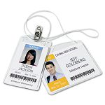 Photo ID Badge Holder Horizontal 4w x 3h Clear 100Box (AVE2922)