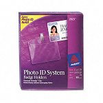 Photo ID Badge Holder Horizontal 4w x 3h Clear 100Box (AVE2923)