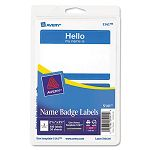 PrintWrite Self-Adhesive Name Badges 2-1132 x 3-38 Blue 100Pack (AVE5141)