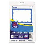 PrintWrite Self-Adhesive Name Badges 2-1132 x 3-38 Blue 100Pack (AVE5144)