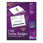 Badge Holders with LaserInkjet Inserts Top Load 3 x 4 White 40Box (AVE5384)