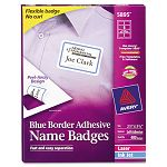 Flexible Self-Adhesive LaserInkjet Name Badge Labels 2-13 x 3-38 BE 400Bx (AVE5895)