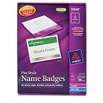 Badge Holders with LaserInkjet Inserts Top Loading 3 x 4 White 100Box (AVE74540)