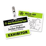 Fold & Clip Badges 3 x 4 White 30Box (AVE74553)