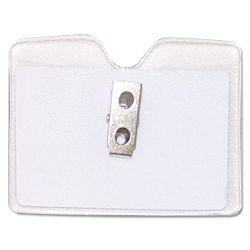 Security ID Badge Holder Horizontal 3 12w x 2 12h Clear 50Box (AVT75412)