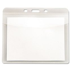 "PVC-Free Badge Holders Horizontal 4"" x 3"" Clear 50Pack (AVT75603)"