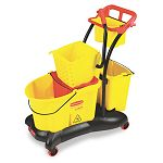 WaveBrake 35-Quart Mopping Trolley Side Press Yellow (RCP778000YW)