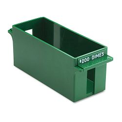 Porta-Count System Extra-Capacity Rolled Coin Plastic Storage Tray Green (MMF212071002)