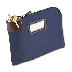 "Seven-Pin SecurityNight Deposit Bag Two Keys Nylon 11"" x 8.5"" Navy (MMF2330981W08)"