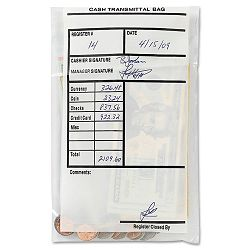 Cash Transmittal Bags Self-Sealing 6 x 9 Clear Box of 500 Bags (MMF236006920)