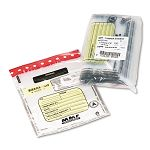 Tamper-Evident DepositCash Bags Plastic 9 x 12 Clear Box of 100 Bags (MMF2362010N20)