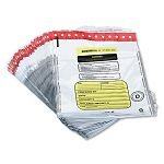 Tamper-Evident DepositCash Bags Plastic 12 x 16 White Box of 100 Bags (MMF2362011N06)