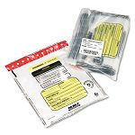 Tamper-Evident DepositCash Bags Plastic 12 x 16 Clear Box of 100 Bags (MMF2362011N20)
