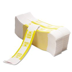 Color-Coded Kraft Currency Straps $10 Bill $1000 Self-Adhesive Pack of 1000 (PMC55031)
