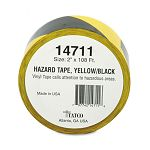 "Hazard Marking Aisle Tape 2""w x 108 ft. Roll (TCO14711)"