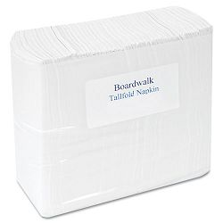 "Tallfold Dispenser Napkin 7"" x 13 12"" White 10000 per Carton (BWK8302)"
