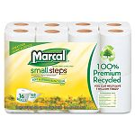 100% Premium Recycled 2-Ply Toilet Tissue Pack of 16 Rolls (MRC1646616PK)