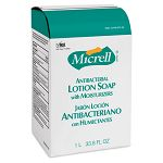 MICRELL NXT Antibacterial Lotion Soap Refill Light Scent 1000 mL. Carton of 8 (GOJ215708CT)