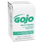 MULTI GREEN Hand Cleaner 800-mL. Bag-in-Box Dispenser Refill Carton of 12 (GOJ917212CT)