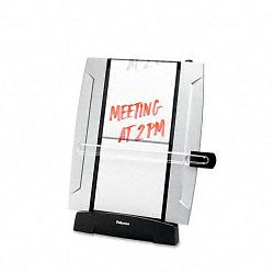 Office Suites Freestanding Desktop Copyholder 150 Sheet Capacity BlackSilver (FEL8033201)