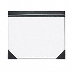 "Executive Doodle Desk Pad 25-Sheet White Pad Refillable 22"" x 17"" BlackSilver (HOD45002)"