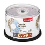 Scratch-Resistant DVD-R Discs 4.7GB 16x Spindle Silver Pack of 50 (IMN18217)
