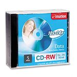 CD-RW Discs 650MB74min 24x with Jewel Cases Silver Pack of 5 (IMN16884)