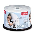 CD-R Discs 700MB80min 52x Spindle Matte White Pack of 50 (IMN17304)