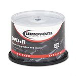 DVD+R Discs Hub Printable 4.7GB 16x Spindle Matte White Pack of 50 (IVR46831)