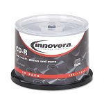 CD-R Discs 700MB80min 52x Spindle Silver Pack of 50 (IVR77950)