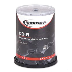 CD-R Discs 700MB80min 52x Spindle Silver Pack of 100 (IVR77990)