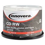 CD-RW Discs Rewritable 700MB80min 12x Spindle Silver Pack of 50 (IVR78850)