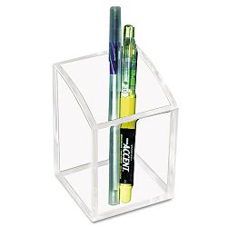 "Acrylic Pencil Cup 2 34"" x 2 34"" x 4"" Clear (KTKAD20)"